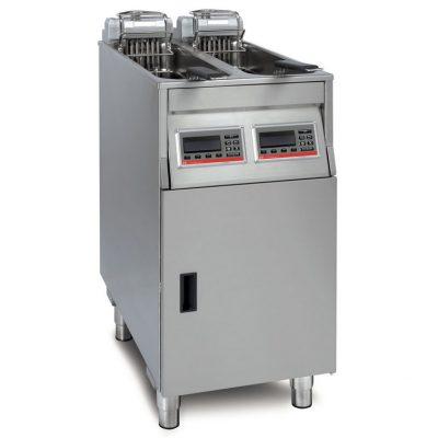 Kaksiosainen automaattirasvakeitin pikaruokaravintoloihin. Kapasiteetti on 2 x 17-22 kg per tunti.