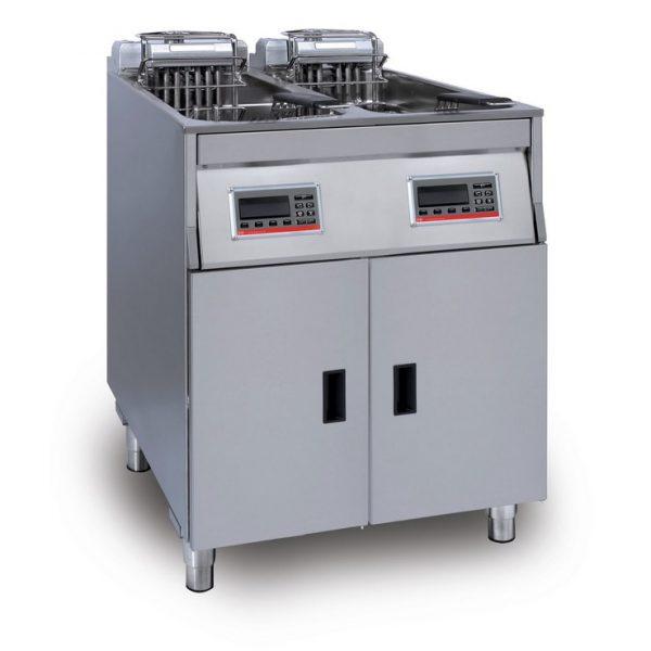 Tehokas FriFri Vision automaattirasvakeitin ravintola ja pikaruokaravintolakeittiöön, automaattisella korinnostolla ja laskulla