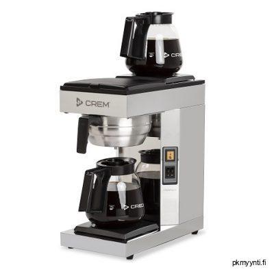 Crem M-2 kahvinkeitin on ammattikäyttöön tarkoitettu. Käyttökohteita ovat muun muassa ravintolat, kahvilat, hotellit, toimistot ja muut kahvilat, jossa tarvitaan isompaa määrää kahvia nopealla keittoajalla.