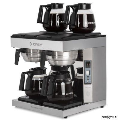 Iso kapasiteettisessa DA4 TK mallissa on neljä lämpölevyä. Kahvinkeitin DA4 on automaattisella veden täytöllä ja se kiinnitetään vesiliitäntään. Automaattisella vedensyötöllä olevissa malleissa on digitaalinen näyttö ja ilmoitin kun kahvi on valmista. Keittimissä on aina mukana 4 kpl 1,8 litran lasipannuja.