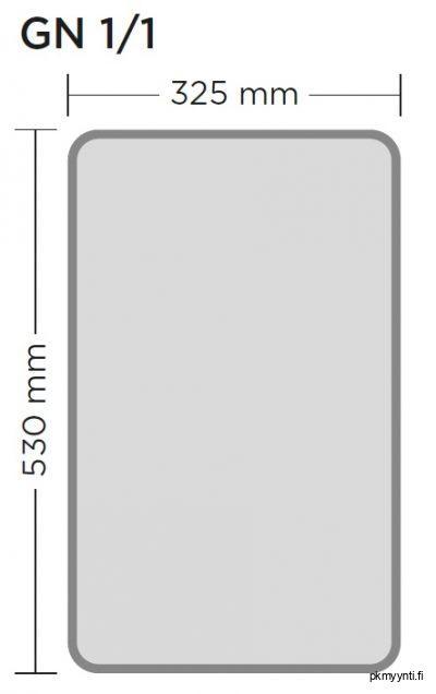 GN 1/1 on gastronorm astia, jota käytetään ravintola- ja suurkeittiöissä. GN 1/1 astian ulkomitat ovat 325 x 530 mm.