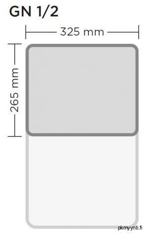 GN 1/2 on gastronorm astia, jota käytetään ravintola- ja suurkeittiöissä. GN 1/2 astian ulkomitat ovat 325 x 265 mm.