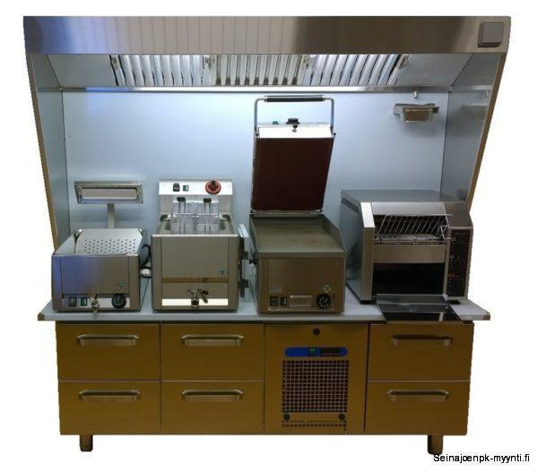 Höyrykupu grilliasema on ravintoloiden keittiöihin tarkoitettu höyrykupu, joka sisältää rasvasuodattimet, laitetason, valaisimen ja helposti irroitettavan rasvankeräysastian. Grilliasema soveltuu erinomaisesti kylmävetolaatikostojen päälle asetettavaksi. Suosittu muun muassa erityisesti pikaruokaravintoloiden ja grillien keittiöissä. Valmistusmateriaali on ruostumaton teräs.