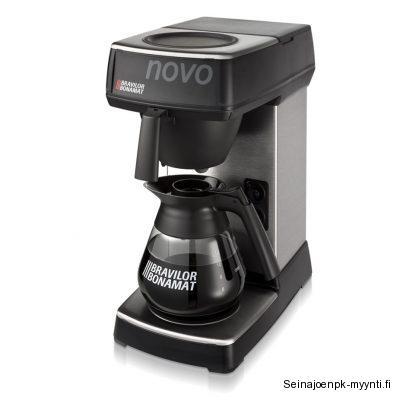 Kahvinkeitin Bravilor Bonamat Novo on klassinen kahvinkeitin malli, joka keittää laadukasta kahvia. Novo kahvinkeitin käyttää 90 mm halkaisiljaltaan olevaa suodatinpaperia.