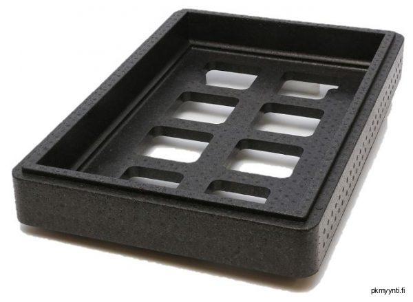 Kerroskanteen laitetaan kylmä- tai pakastegeelimatto. Kerroskansi laitetaan kuljetuslaatikon ja kannen väliin. Kylmä valuu laatikossa alaspäin, joten ylössijoitettu geelimatto toimii parhaiten.