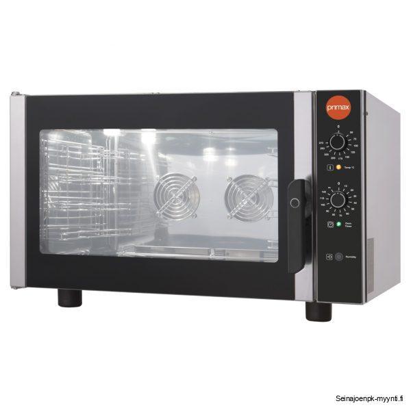 Primax kiertoilmauuni ravintola ja suurtalouskeittiöihin. Uunissa voidaan käyttää GN 1/1 astioita ja 600 x 400 mm leipomopeltejä. Uunissa on 4 kpl johdepareja.
