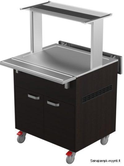 Huurretasolla varustettu kylmäbufevaunu soveltuu ravintolalinjaston huurretaso kalusteeksi sekä ruokakaupoissa sushibuffetiksi. Saatavana useita eri värivaihtoehtoja. Vaunun leveys on 800 mm.