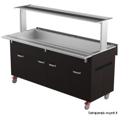 Restmec KTV 5 GN on kylmäallasvaunu, jonka kapasiteetti on 5 x GN 1/1-astia. Vaunu soveltuu ruokaloiden ja ravintoloiden ruokalinjastoihin, johon voi sijoittaa salaatit ja juomat.