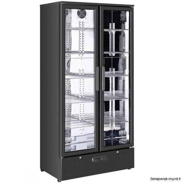 Temptech kylmäkaappi, jossa on lasisisustus. Soveltuu ravintoloihin, hotelleihin, baareihin ja päivittäistavarakauppoihin