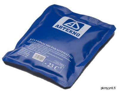 Pakastegeelimattoa ladataan pakasteessa 10–20 tuntia, jonka jälkeen ne ovat käyttövalmiita. Käytön jälkeen elementtiä voidaan ladata aina uudestaan.