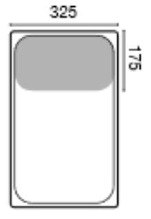 GN 1/3 mitoitettu ruostumattomasta teräksestä olevaa astiaa käytetään ravintolakeittiöissä, suurkeittiöissä ja laitoskeittiöissä.