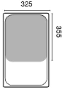 GN 2/3 mitoitettu ruostumattomasta teräksestä olevaa astiaa käytetään ravintolakeittiöissä, suurkeittiöissä ja laitoskeittiöissä.
