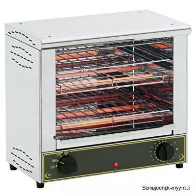 2-tasoinen salamanteri ammattikeittiöihin. Valmistaja Roller Grill, malli BAR 2000 ja valmistusmaa Ranska.