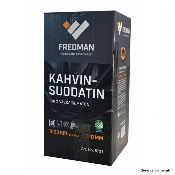 Fredman suppilosuodatinpaperi soveltuu kahviloiden ja ravintoloiden kahvinkeittimiin.