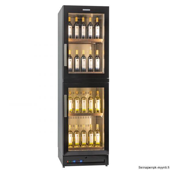 Suomaleinen Festivo VLK 60-2 on suunniteltu viinien myyntikaapiksi ja säilytykseen. Tyylikkäitä ja kestäviä puuhyllyjä kaapissa on vakiona 5 kpl.