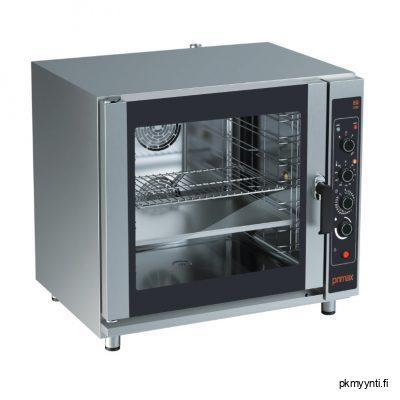 Primax yhdistelmäuuni ravintolakeittiöihin. Uunissa on johdeparit 7 x GN 1/1-65 astioille. Uunissa voi käyttää myös 600 x 400 mm leipomopeltejä.