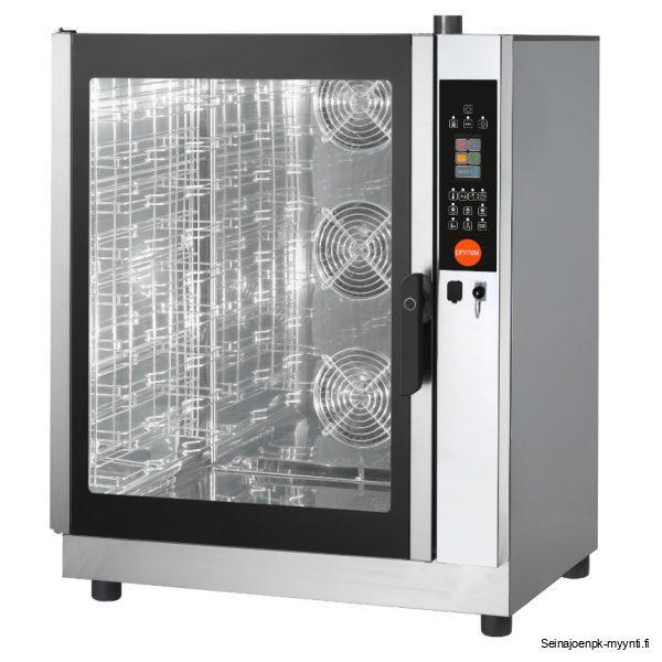 Primax yhdistelmäuuni ammattikeittiöihin, jossa voi käyttää sekä GN 1/1 mitoitettuja astioita että 600 x 400 mm leipomopellejä. Uuni on varustettu kosketusnäytöllä.